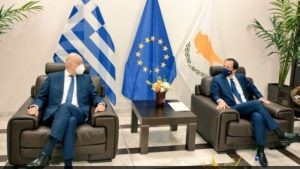 Συνάντηση Δένδια-Χριστοδουλίδη: Συντονισμός για Κυπριακό, ευρωτουρκικά και σχέσεις με Αίγυπτο